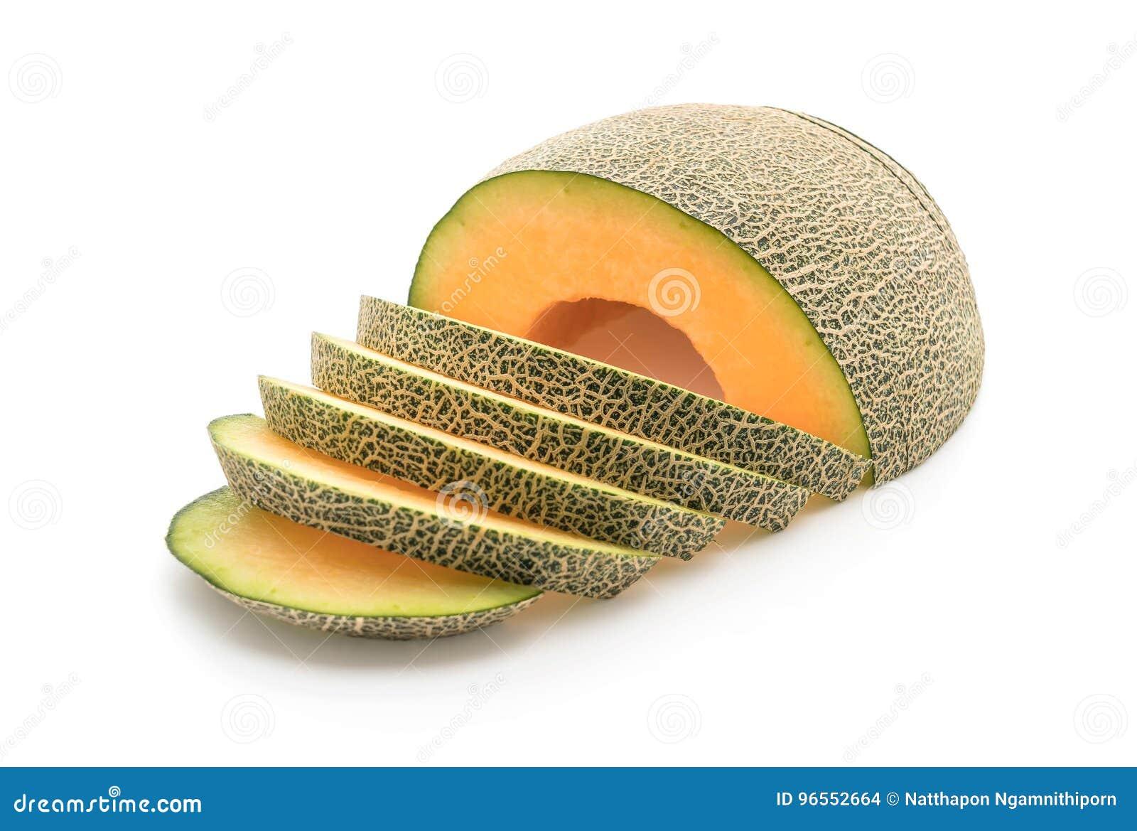 Melão do Cantaloupe no branco