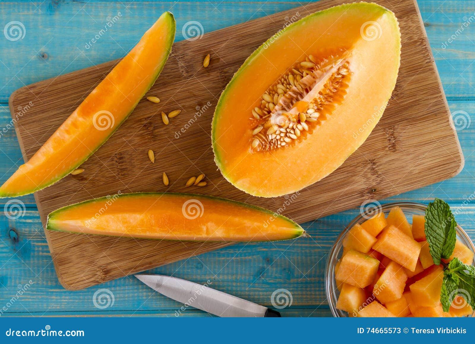 Melón orgánico fresco del cantalupo