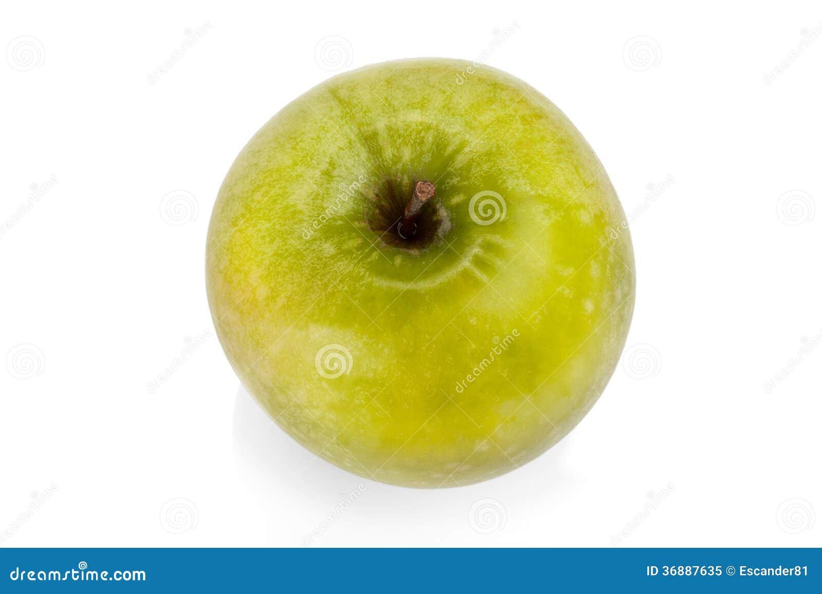 Download Mela verde isolata immagine stock. Immagine di organico - 36887635
