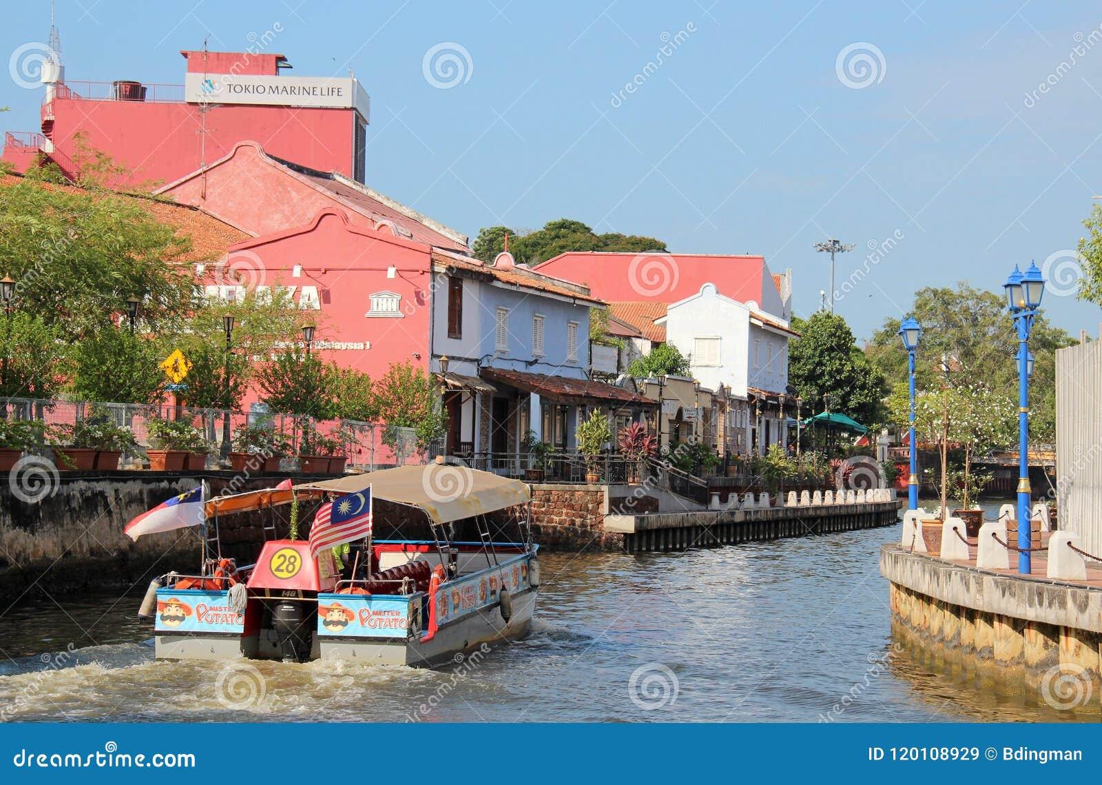 Melaka River editorial stock image  Image of 16th, malacca