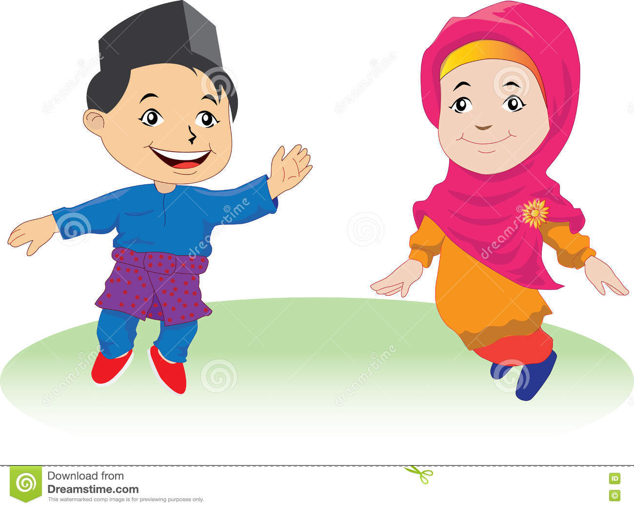 Melayu Children In Patani 01 Stock Vector - Illustration ...