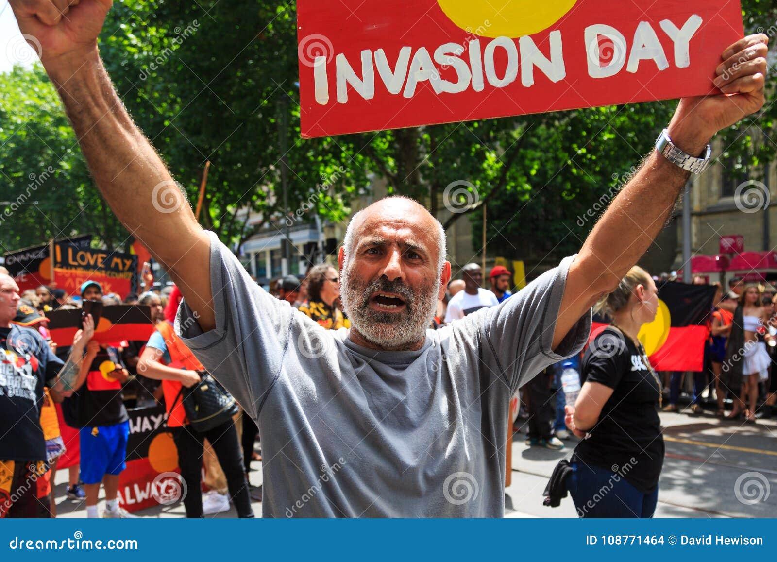 Invasion Day Australia Day Protests in Melbourne
