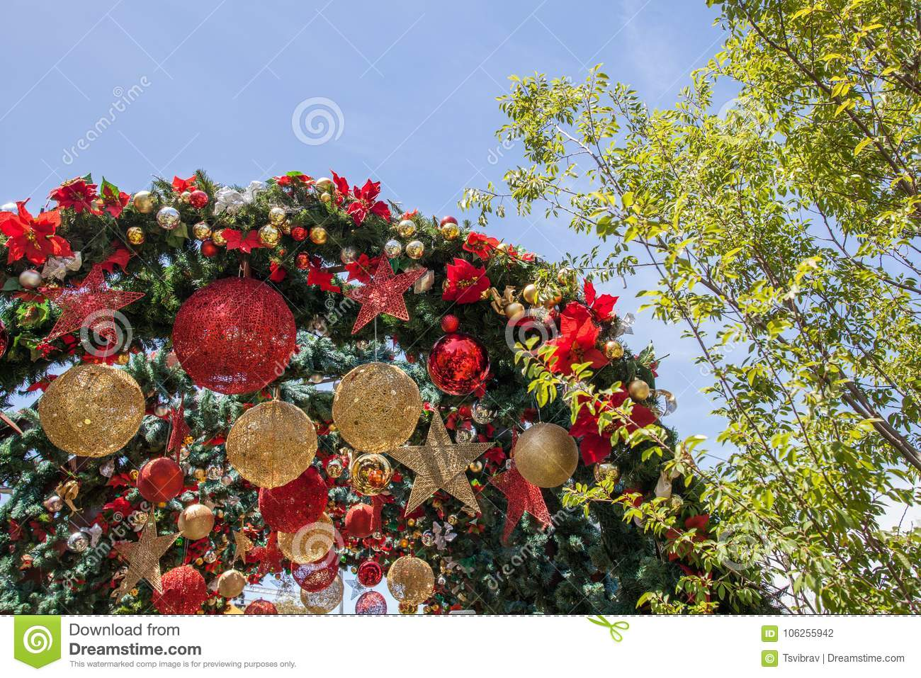 download melbourne australia december 16 2017 christmas decorations at federation square