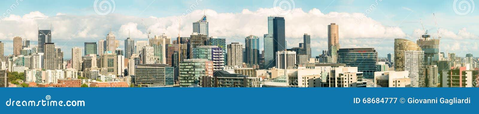 MELBOURNE, AUSTRALIE - la belle ville loue la vue panoramique mels