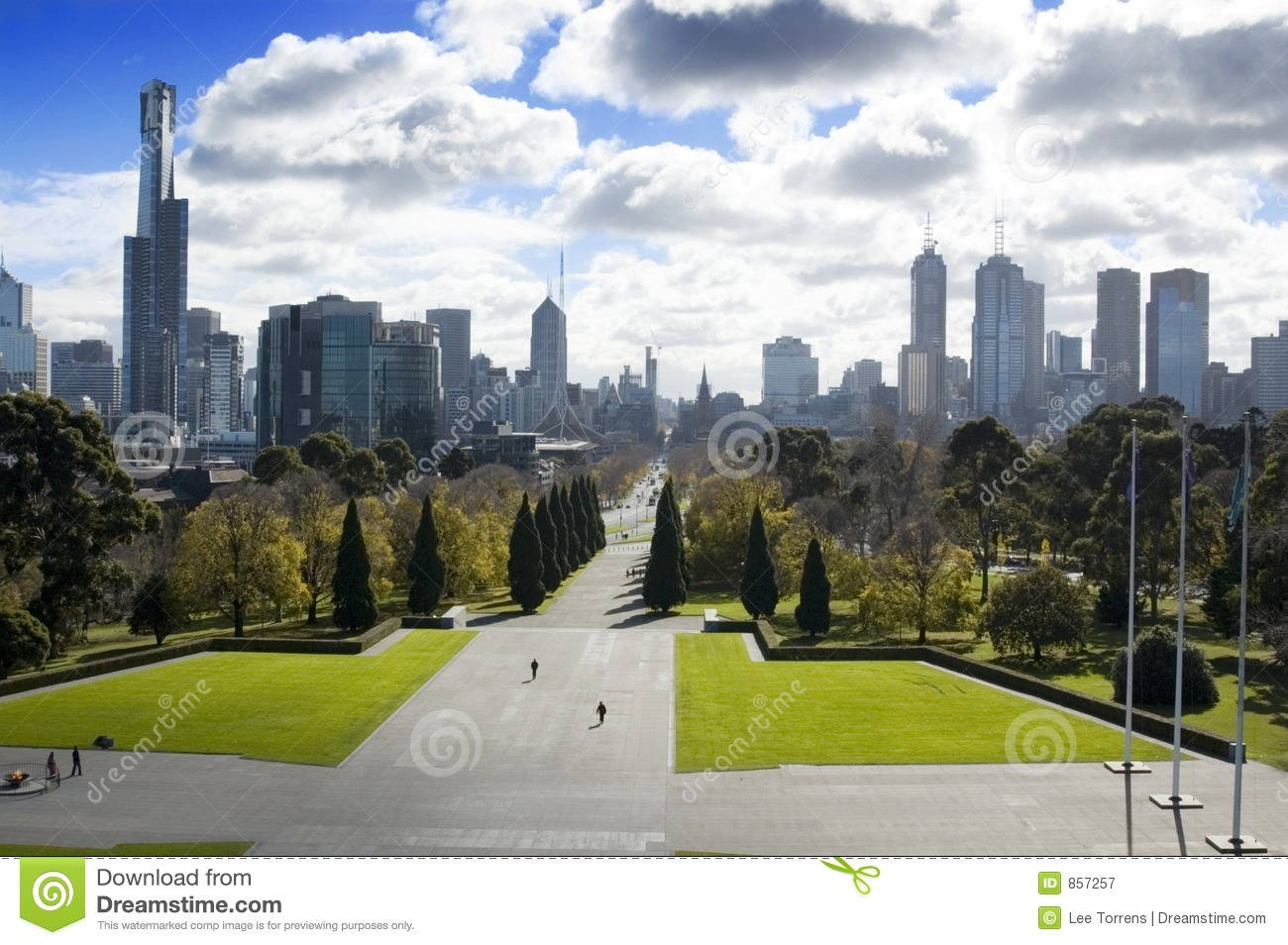 melbourne city park royalty free stock photography image