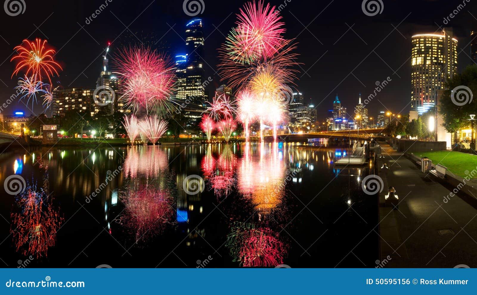 Melbourne fajerwerki