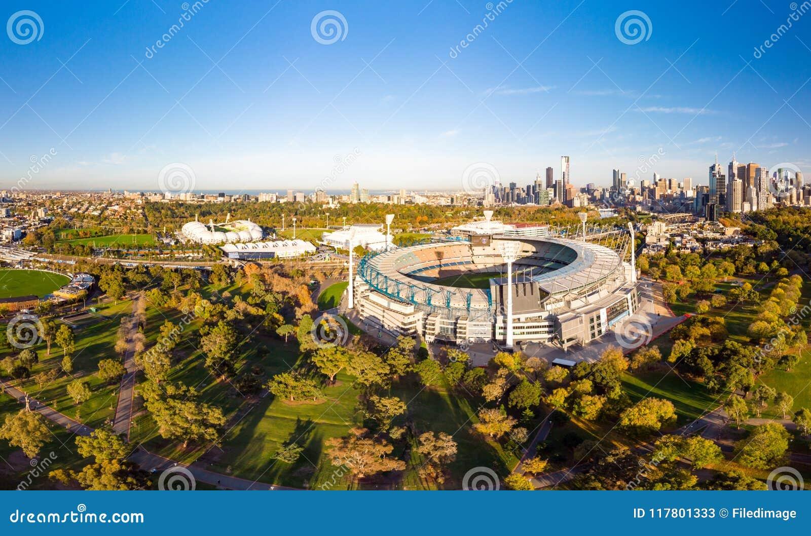 Melbourne-Skyline-Antenne mit Magnetkardiogramm