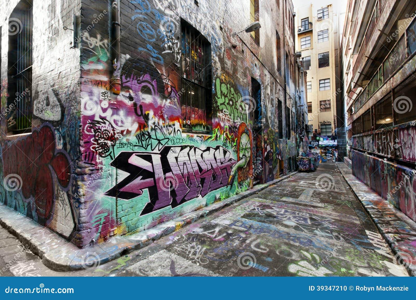 Melbourne Street Graffiti Editorial Image Image 39347210