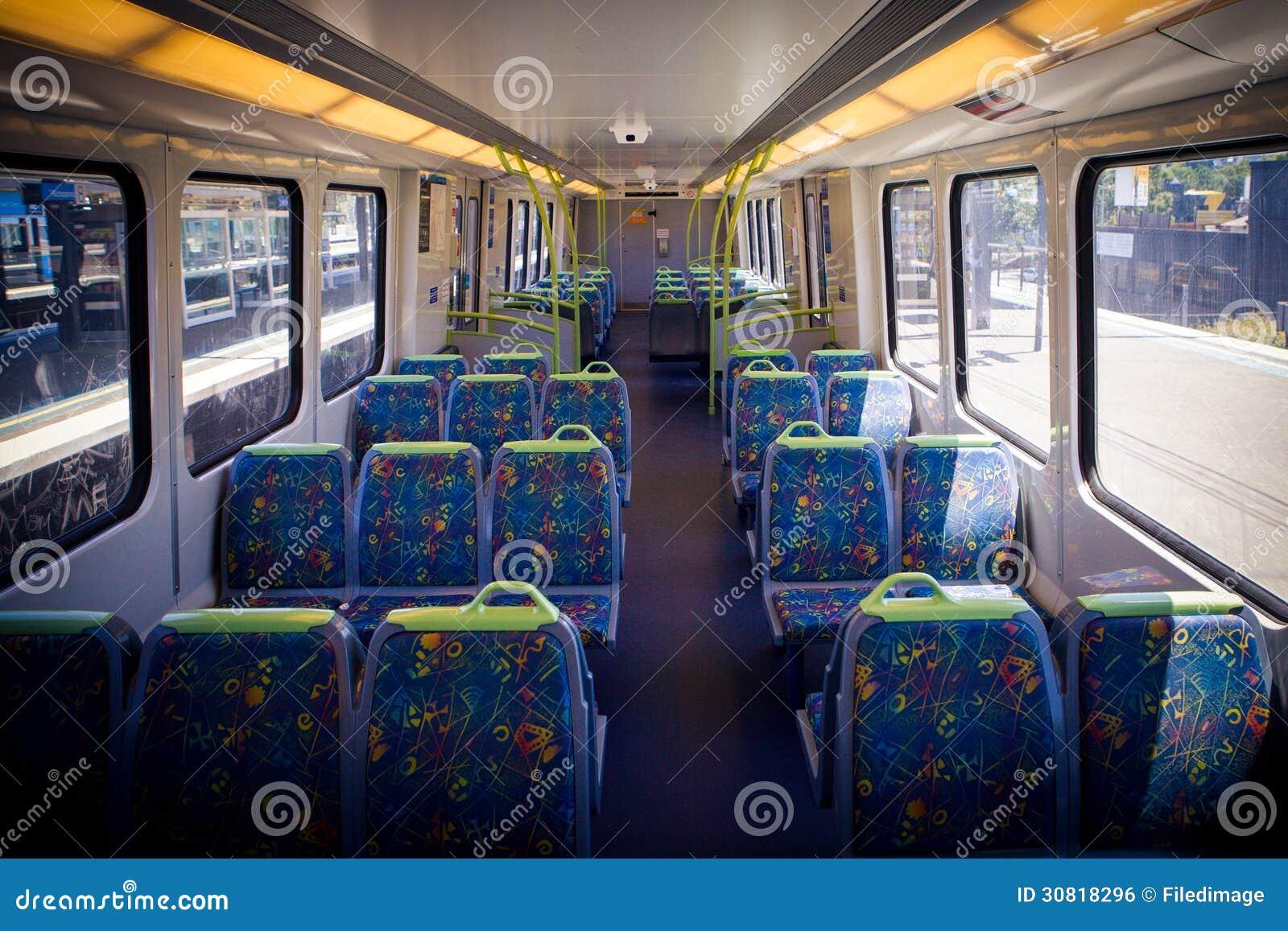 Melbourne Train Interior Royalty Free Stock Image Image
