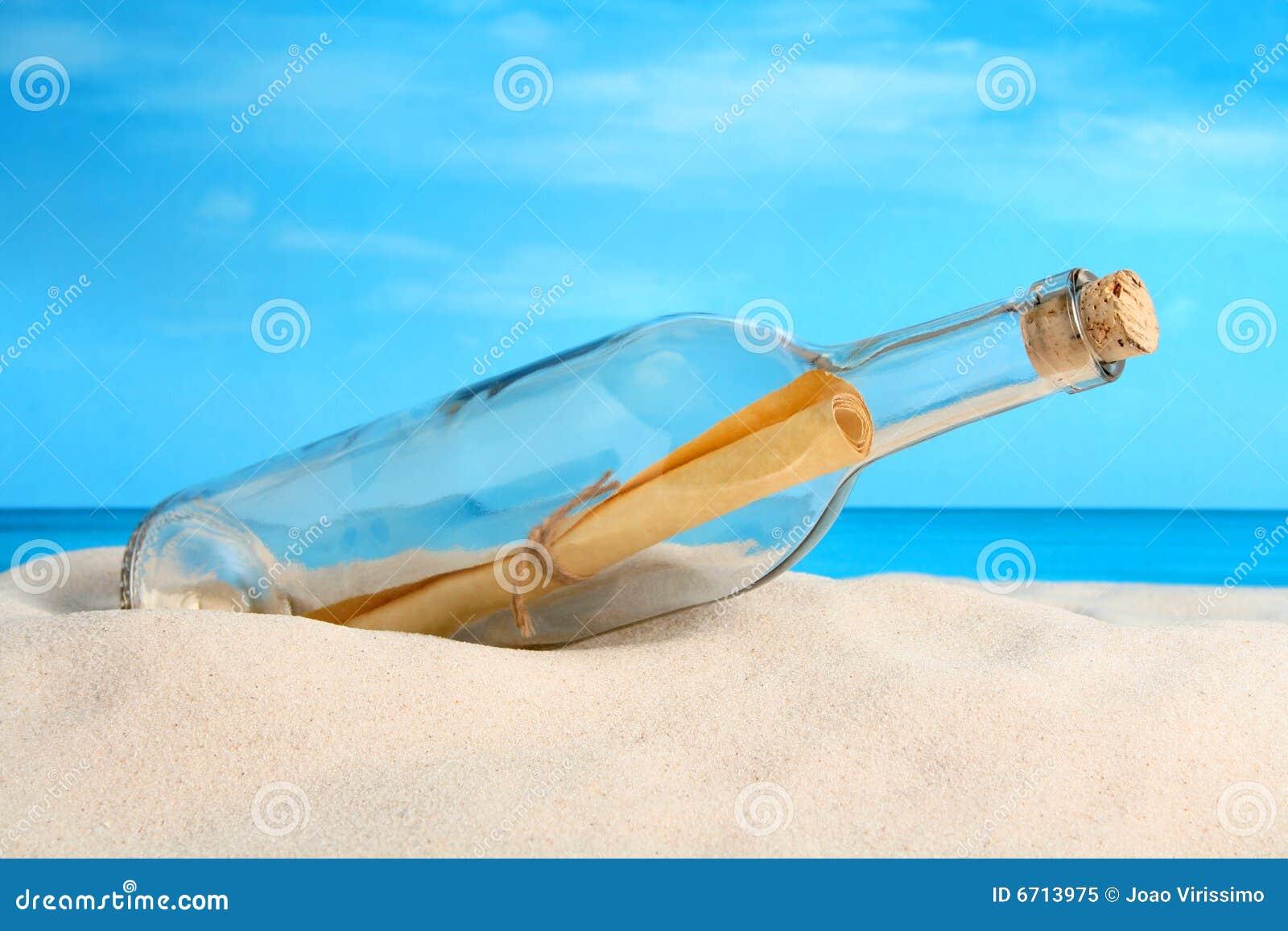 Meldung in einer Flasche