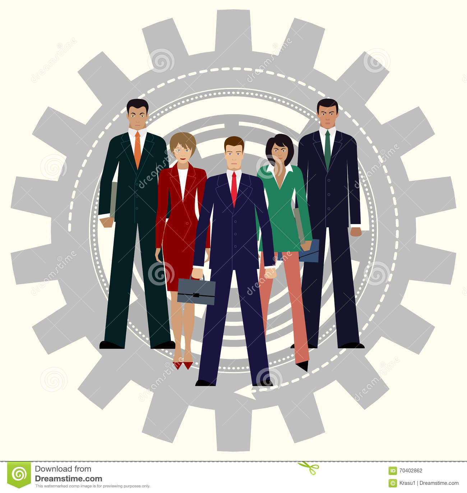 A melhor equipe do negócio Conceito dos trabalhos de equipa da engrenagem