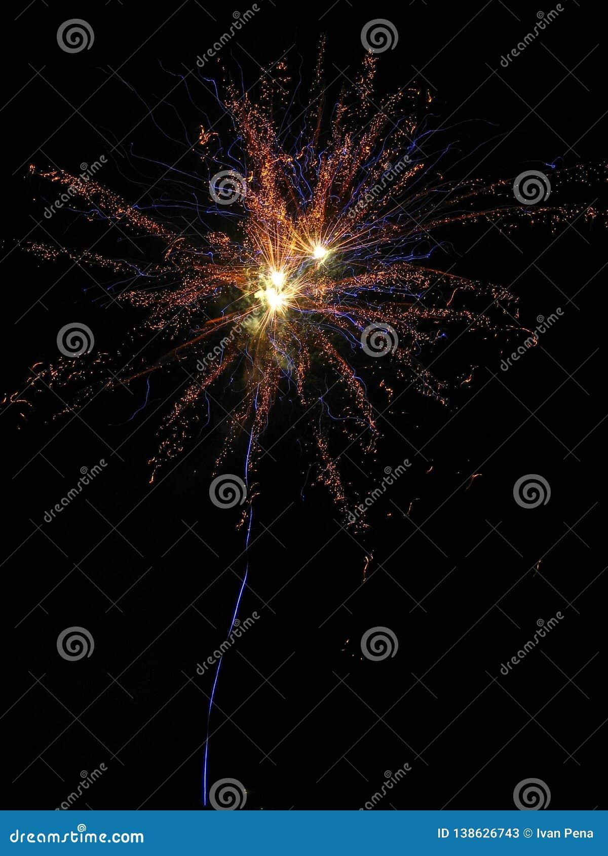 A melhor imagem do fogo de artifício