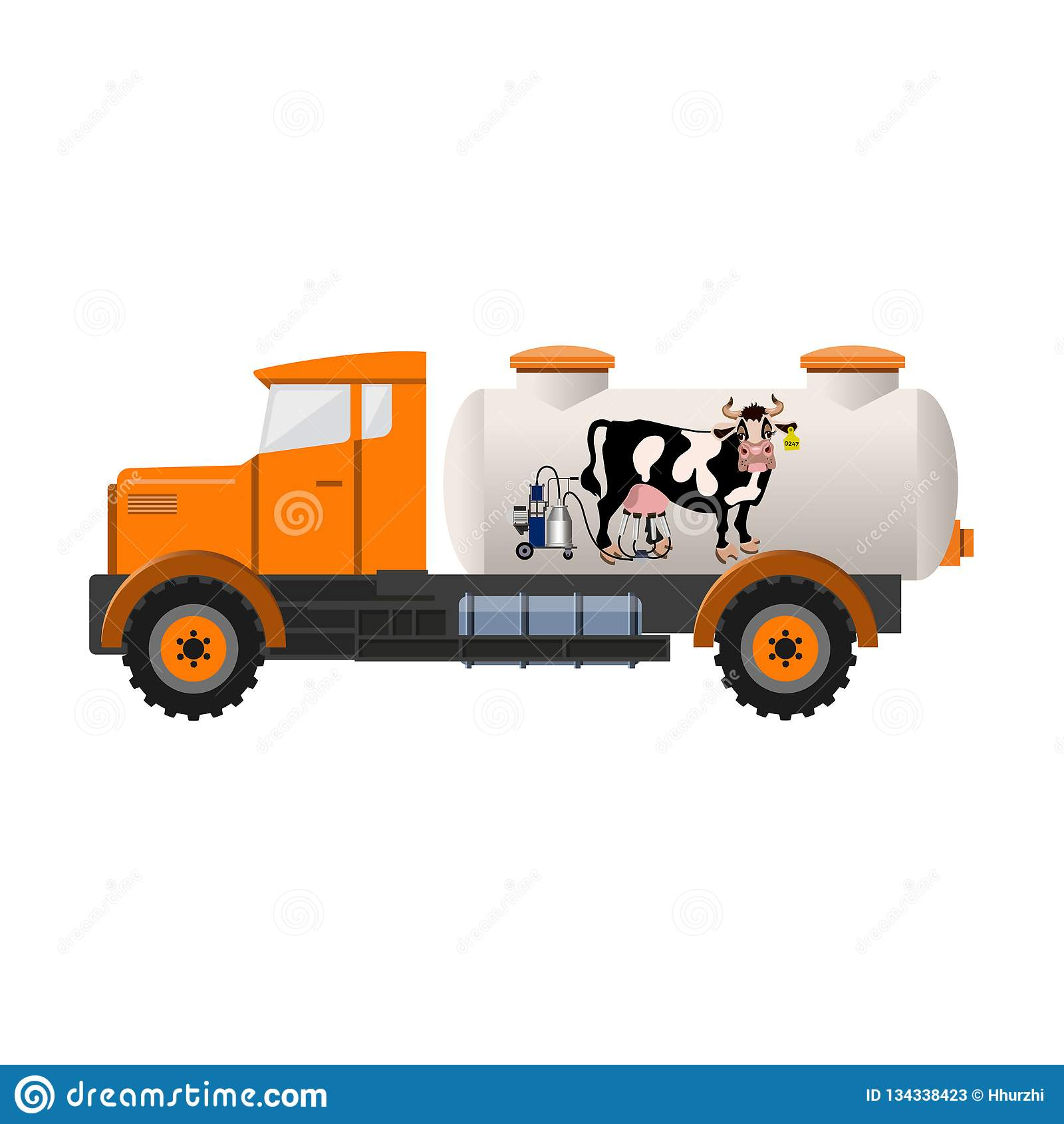 Melktankvrachtwagen