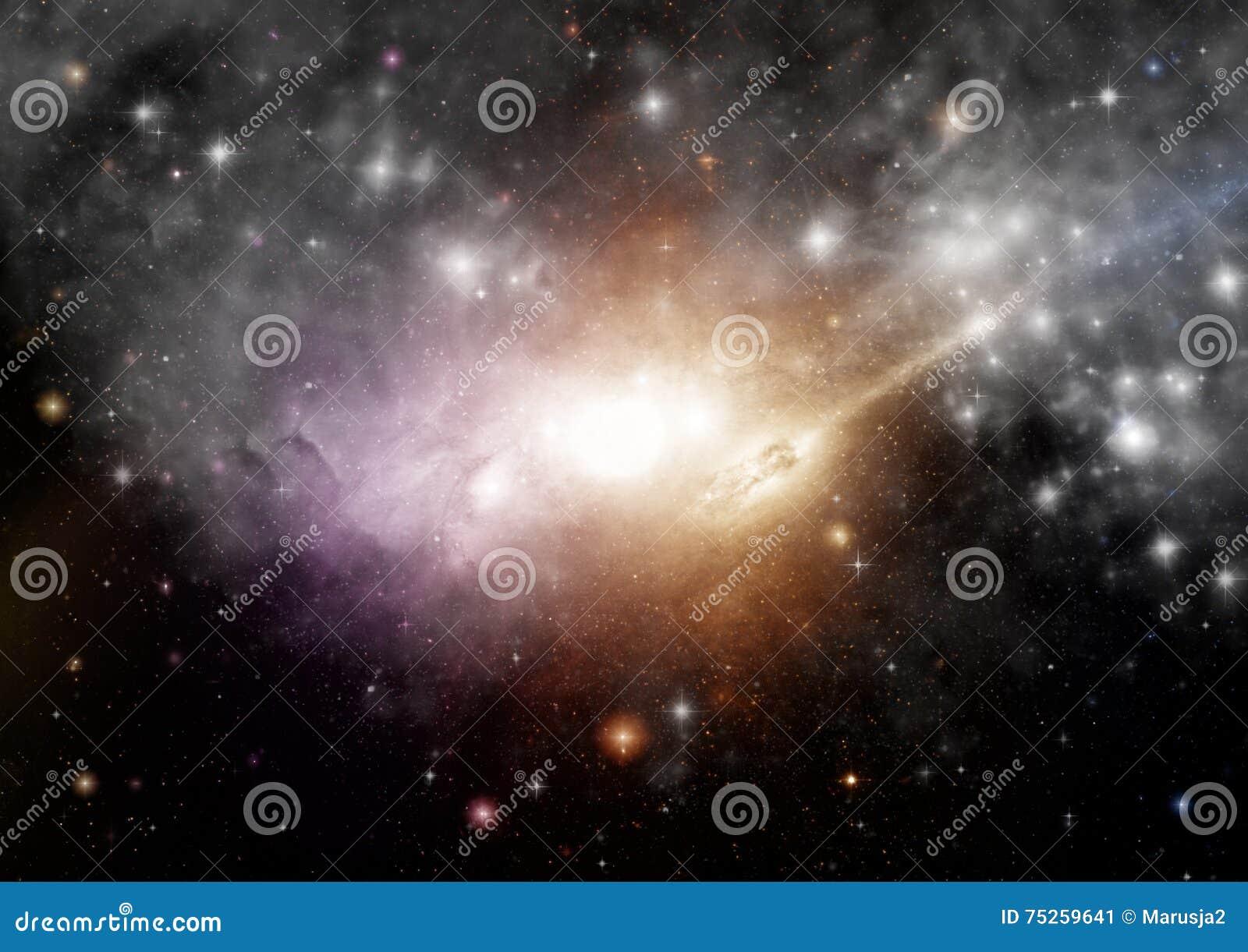 Melkweg in een vrije ruimte