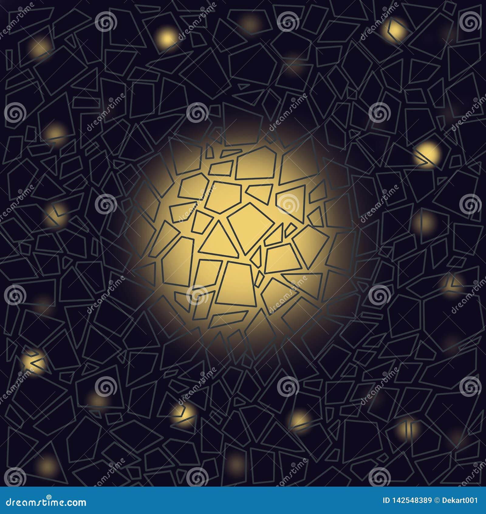 Melkweg in het venster Abstracte samenstelling