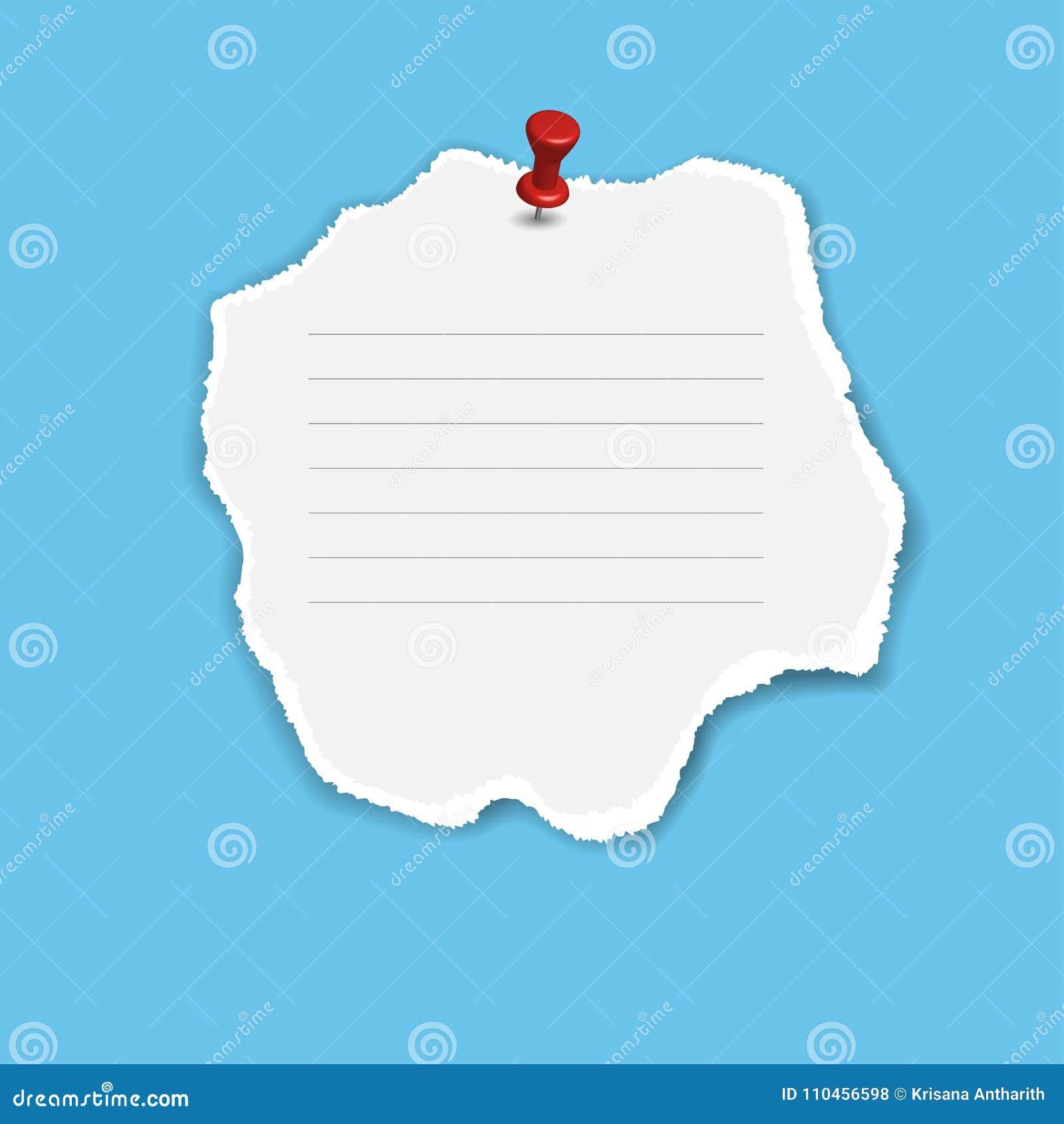 Mellanrum kvadrerat notepadsidor och stift Anmärkningspapper som klibbas med stiftet
