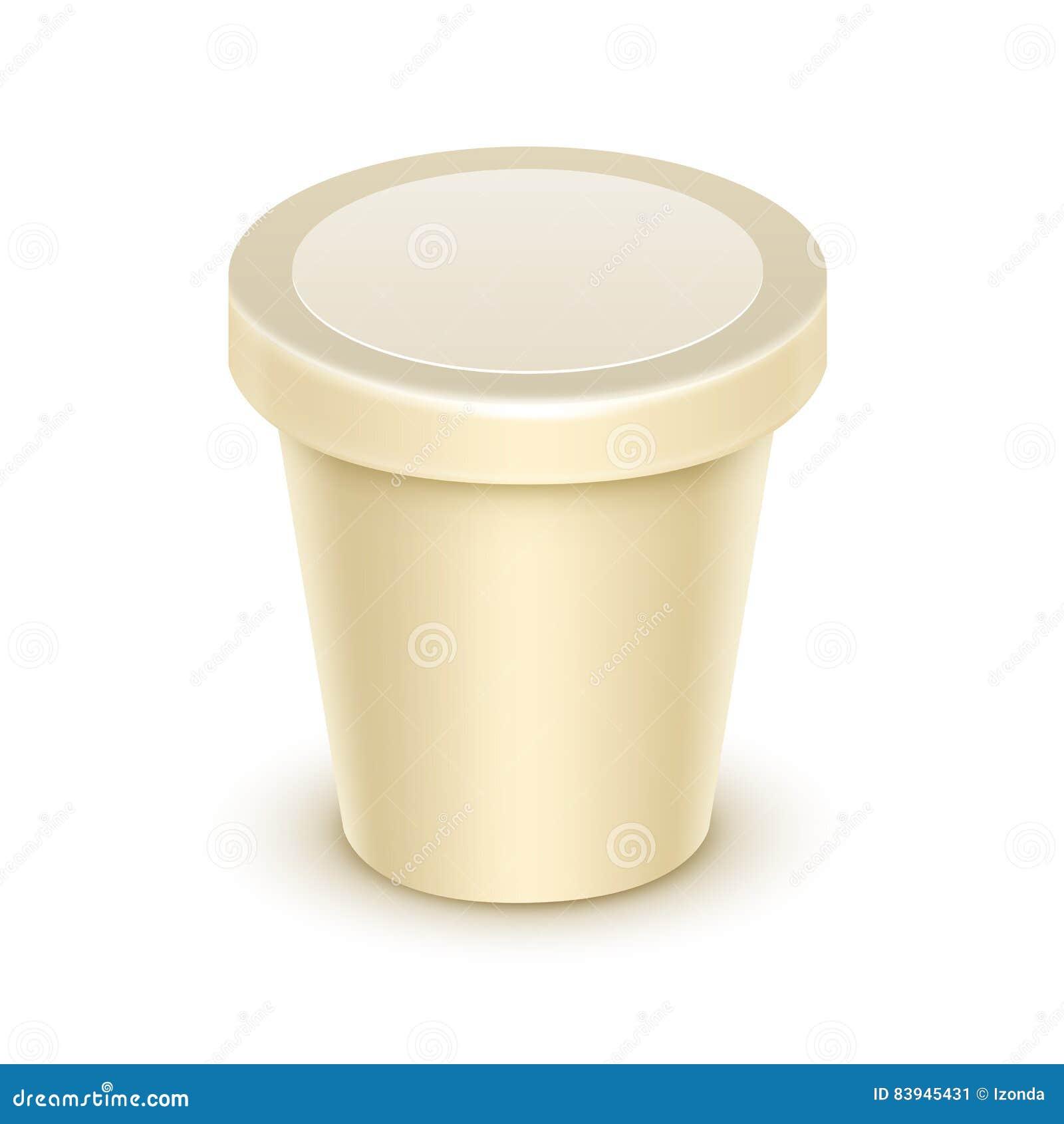 Mellanrumet badar för vaniljefterrätten, yoghurten, gräddfil