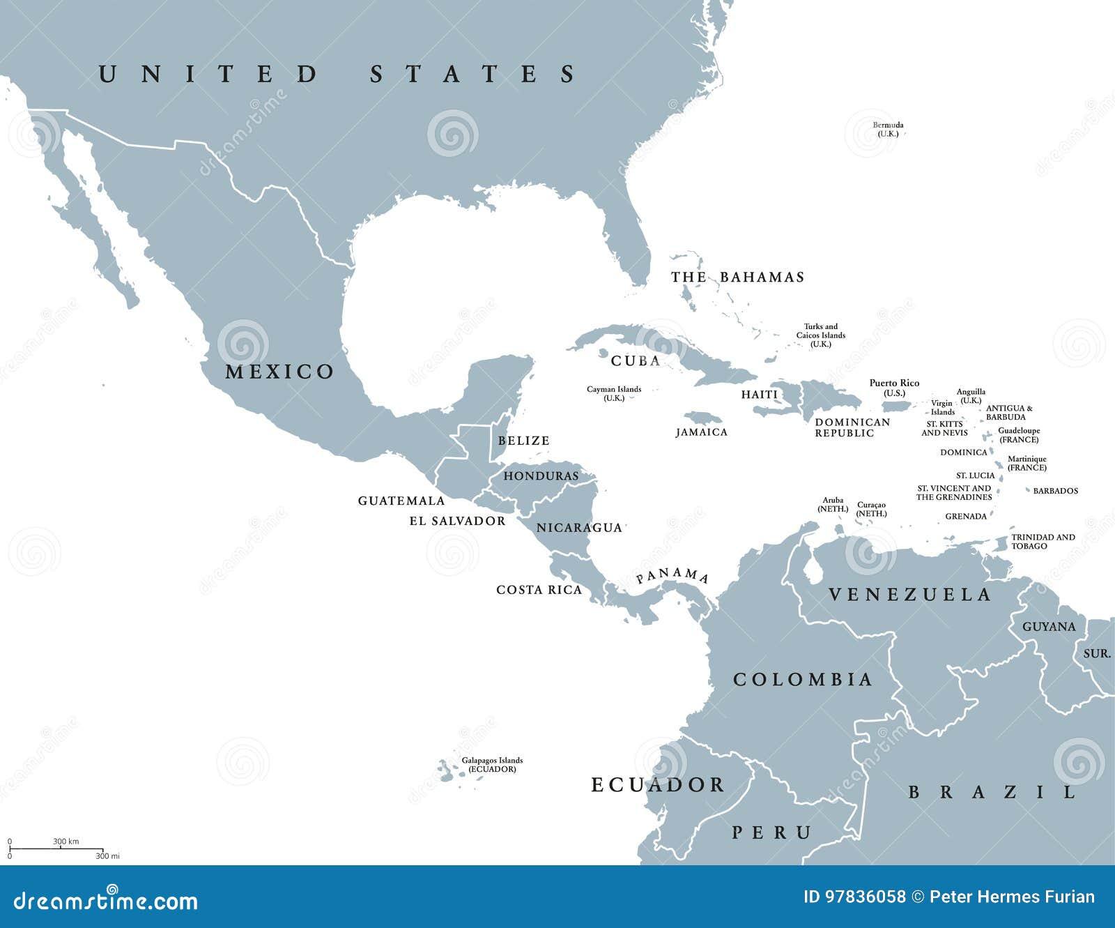 Mellersta Amerika politisk översikt