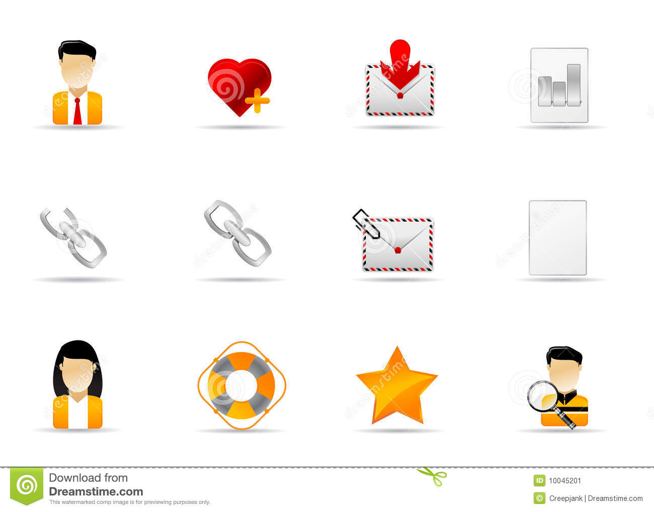 Melo Icon Set Website And Internet Icon 7 Stock Vector
