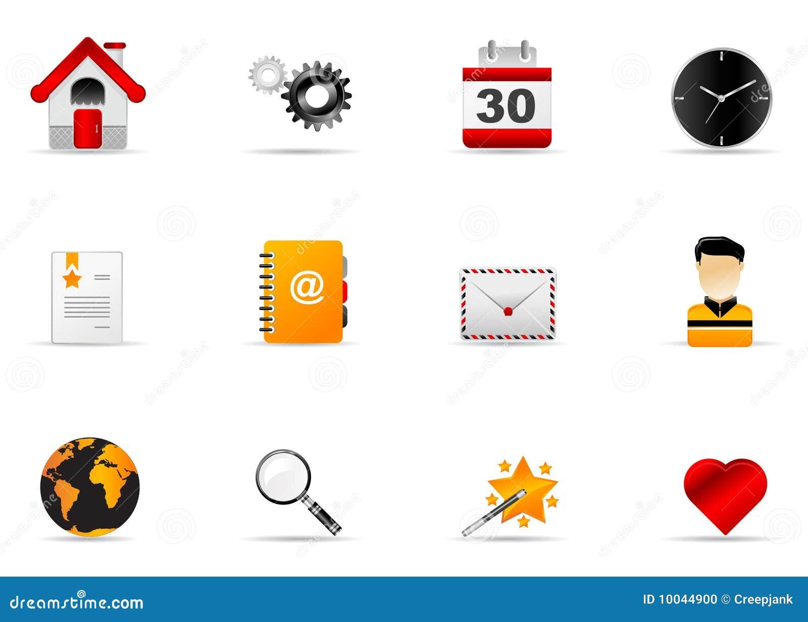 Melo Ikonenset Site Und Internet Ikone 1 Vektor Abbildung