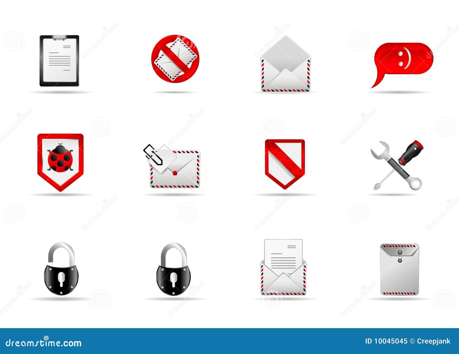 Melo Ikonenset Site Und Internet Ikone 3 Vektor Abbildung