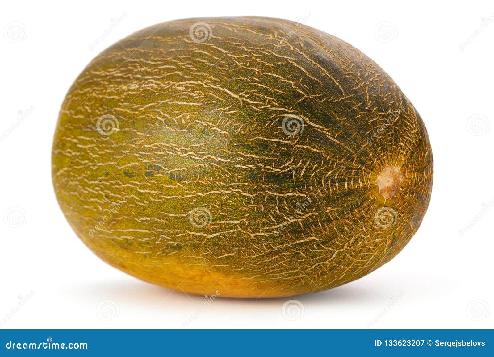 Meloen op witte dichte omhooggaand wordt geïsoleerd die als achtergrond