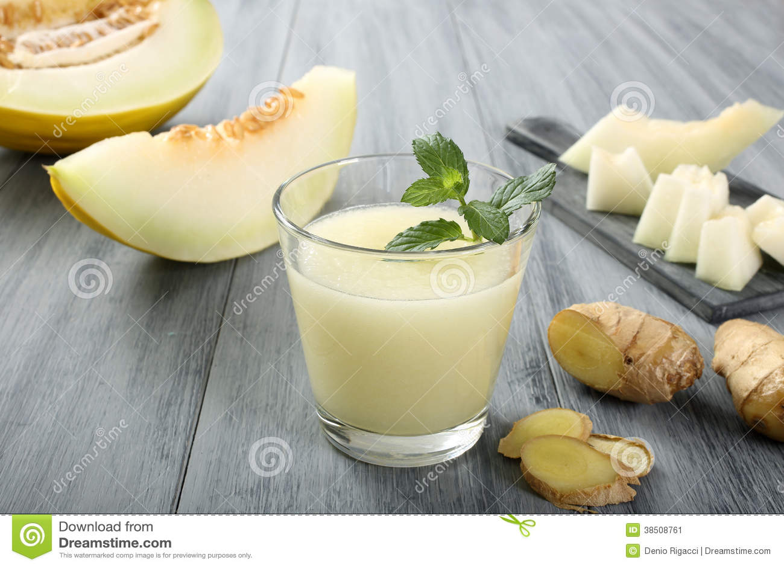 Meloen smoothie en gember