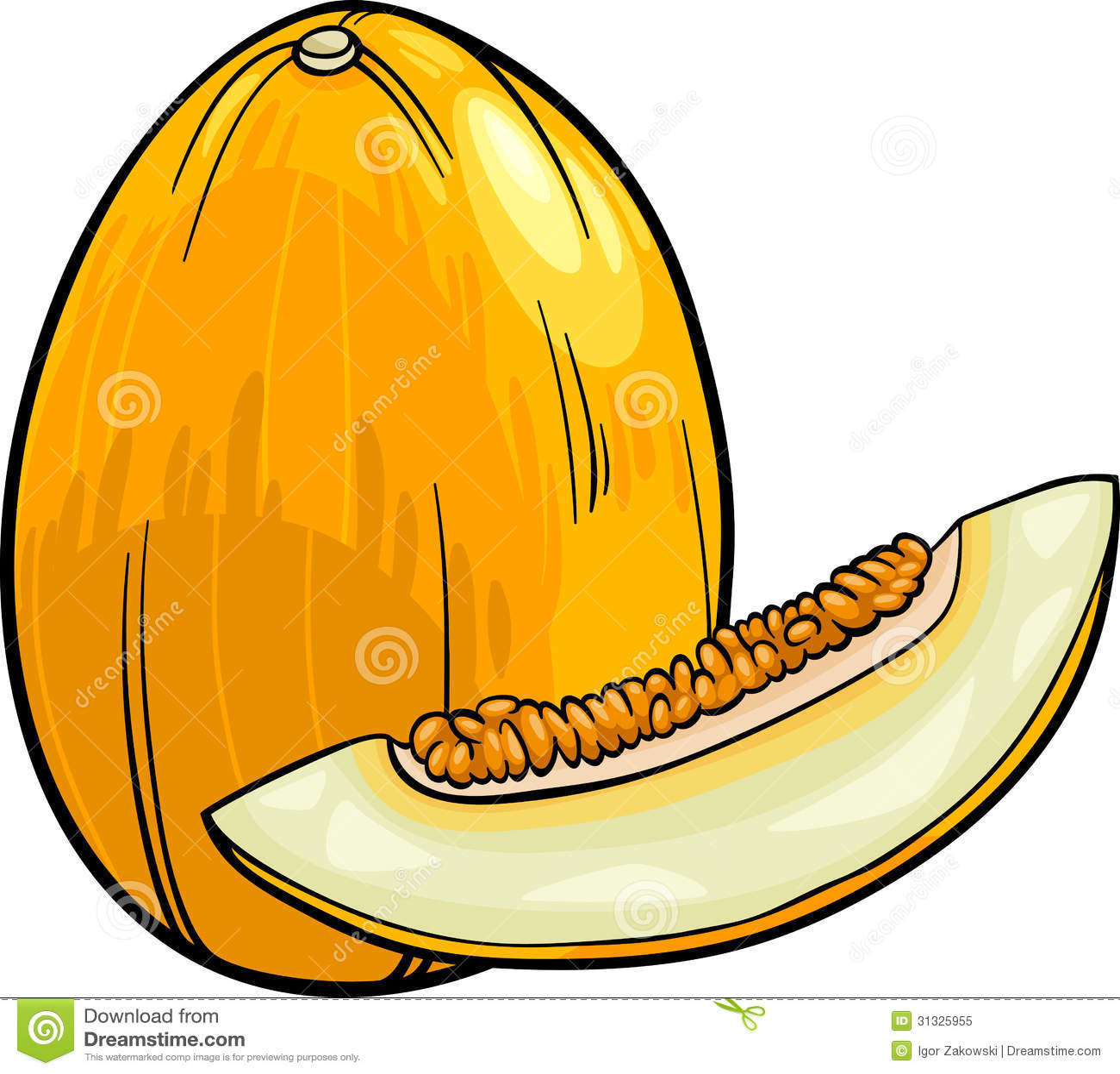 Melon Fruit Cartoon Illustration Royalty Free Stock Photo Image