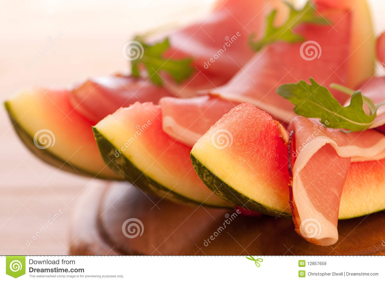 Melon With Parma Ham Royalty Free Stock Images - Image: 12857659