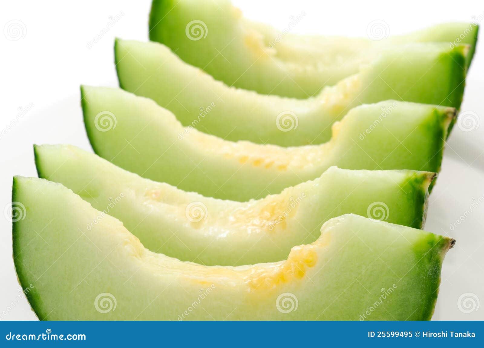 Melon soigné disposé