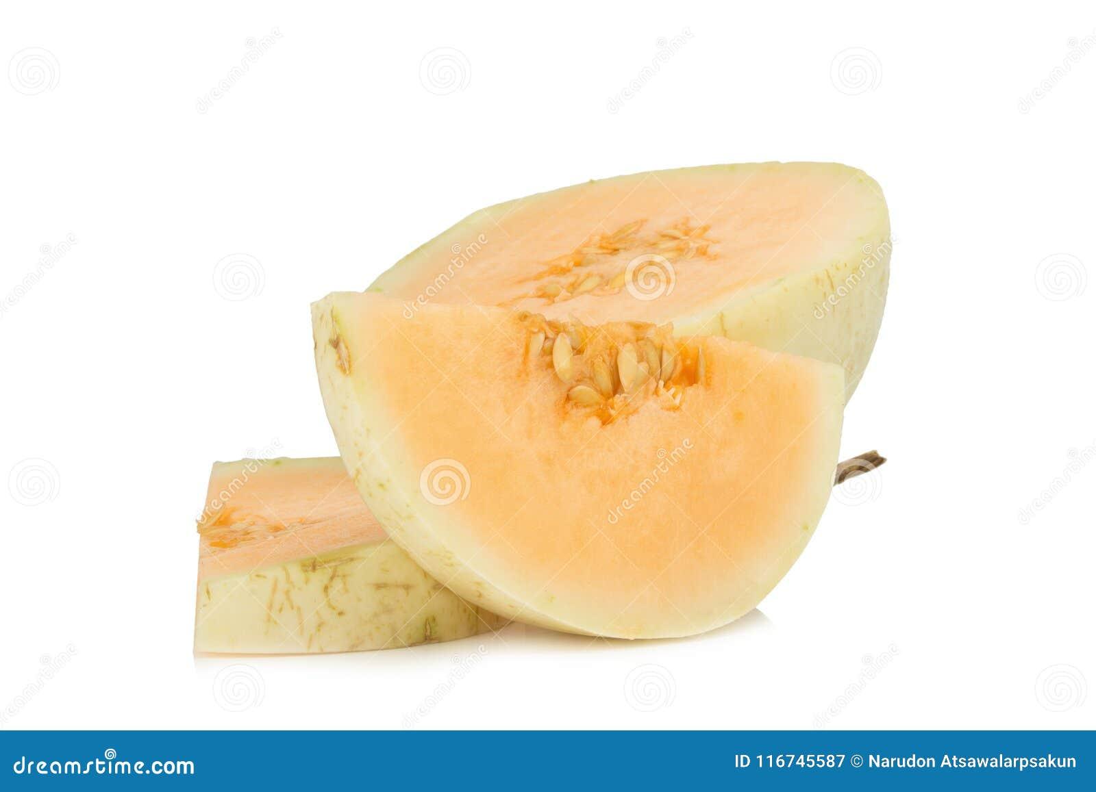 Melon& x28; sunlady& x29; plasterek halfback Na białym tle