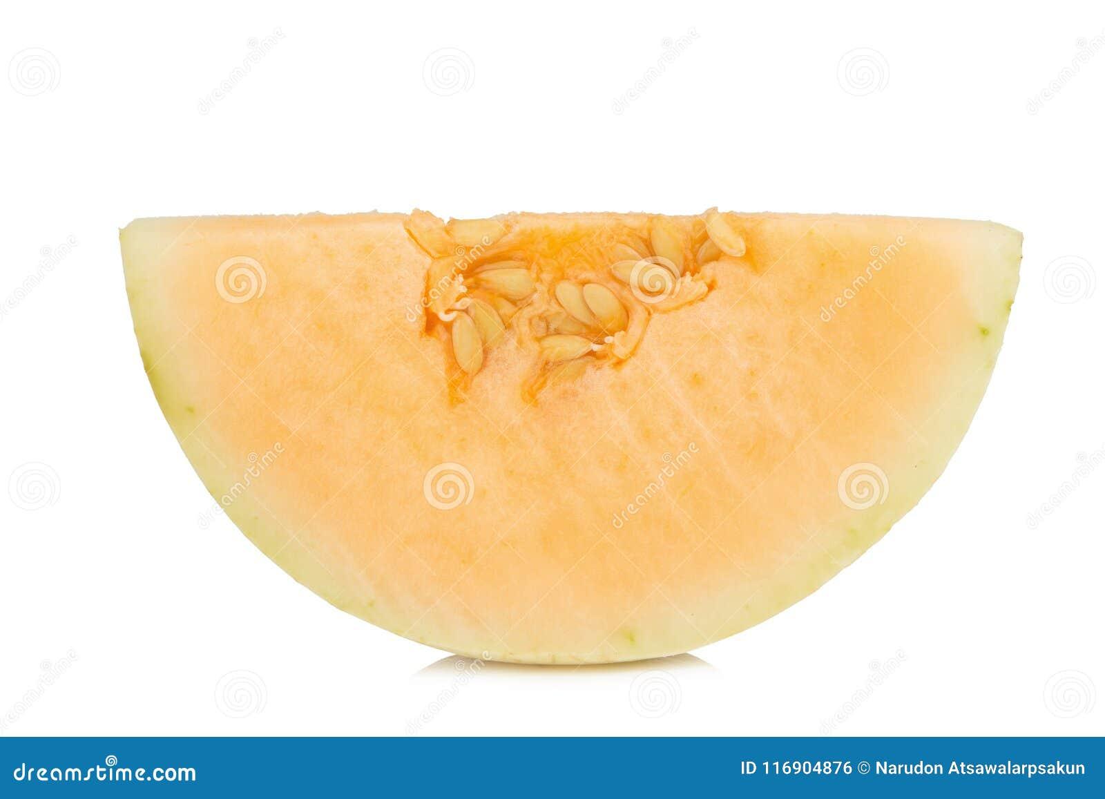 Melon& x28; sunlady& x29; plasterek halfback pojedynczy białe tło