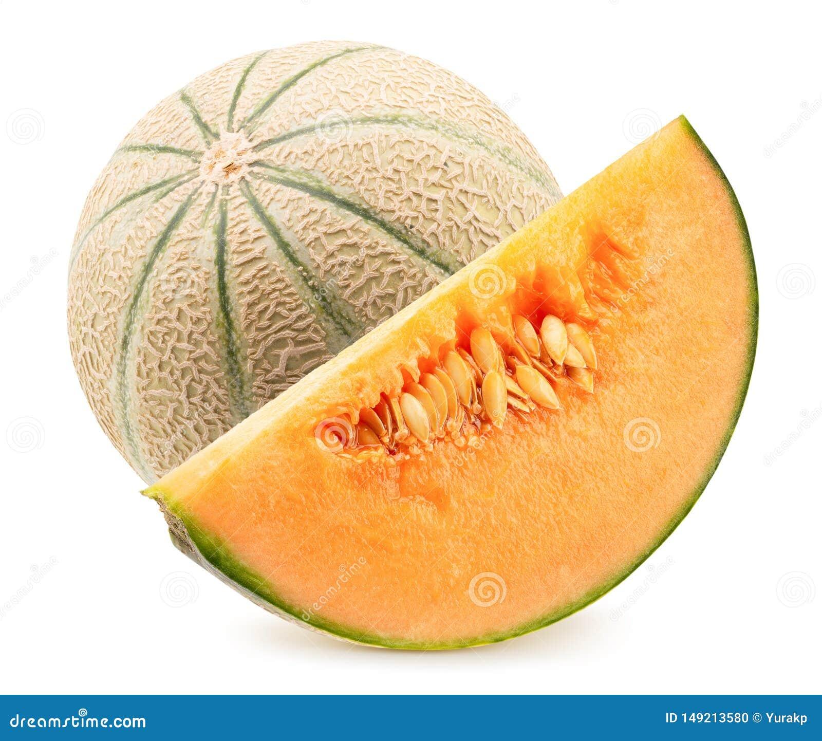Melon z plasterkiem odizolowywaj?cym na bia?ym tle