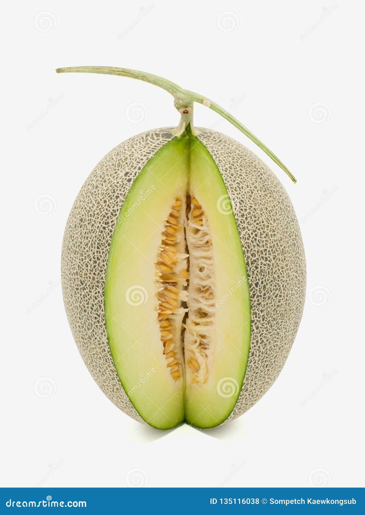 Melone di verde del Giappone su fondo bianco