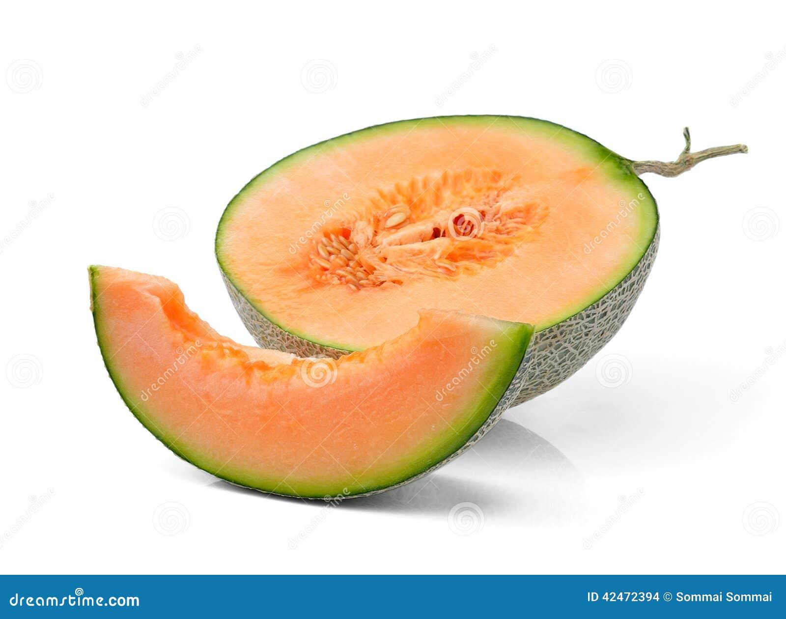 Melone lokalisiert auf weißem Hintergrund