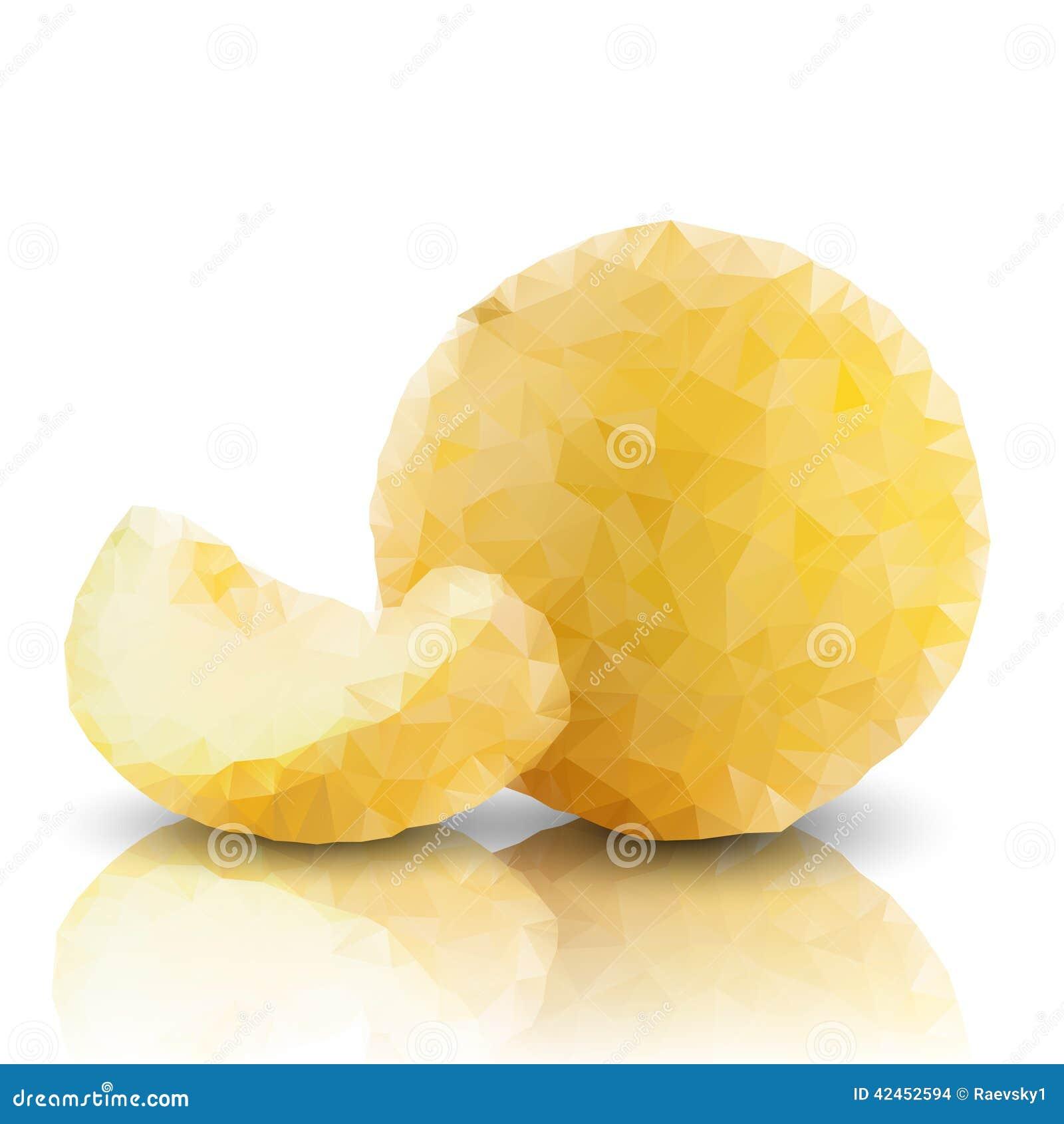Melone lokalisiert, Dreieckdesignvektor