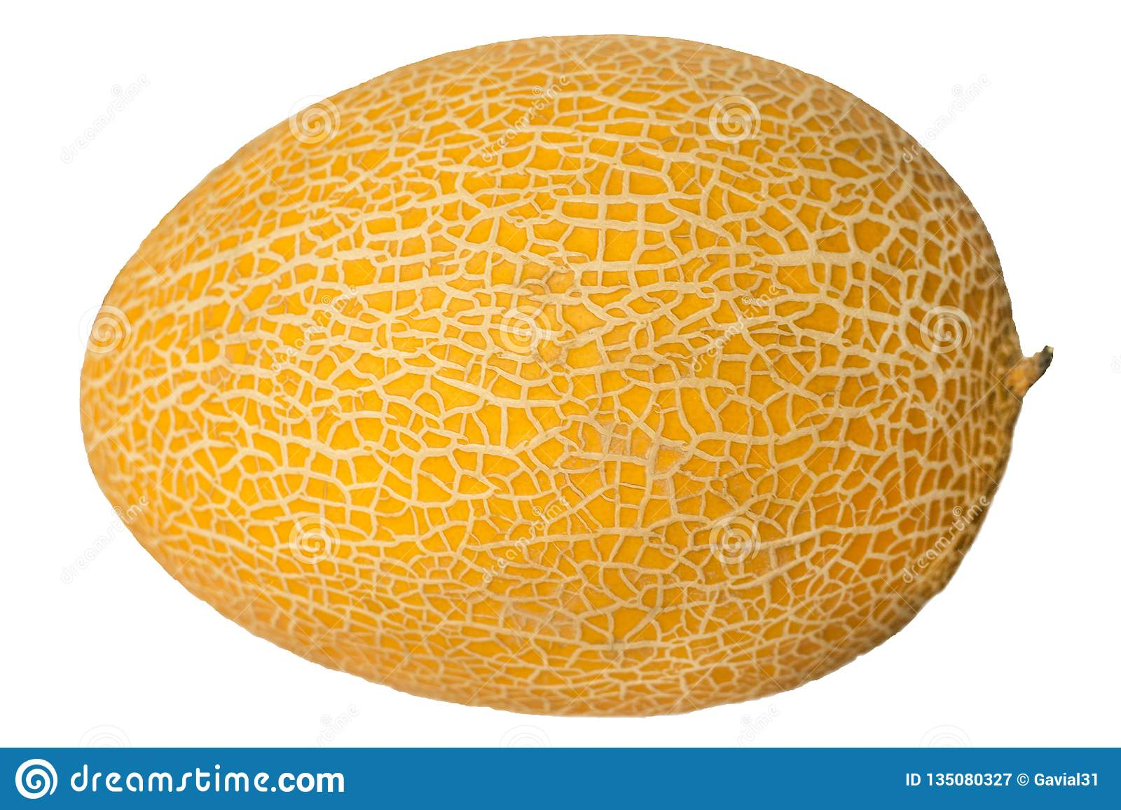 Melone maturo isolato su priorità bassa bianca