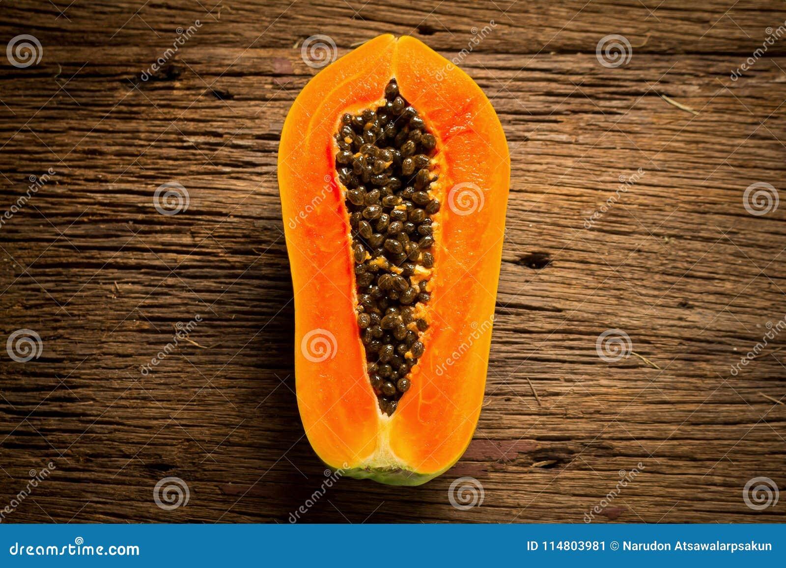 Melonowiec owoc halfback ziarno Stary drewniany moring Zmierzch sztuka azjaci