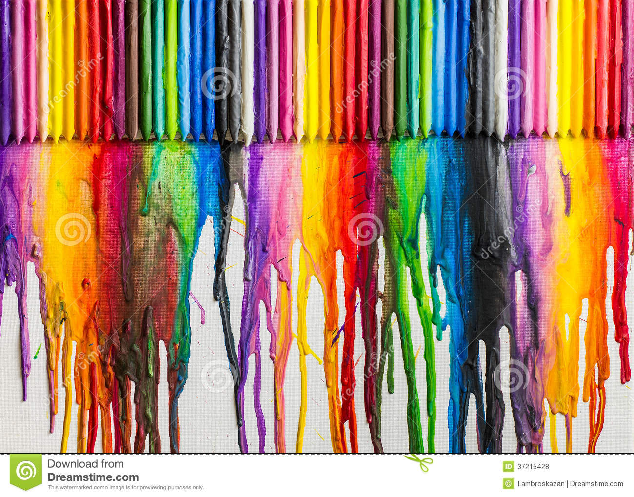 Melted Crayons Colorful Abstract Stock Illustration ...