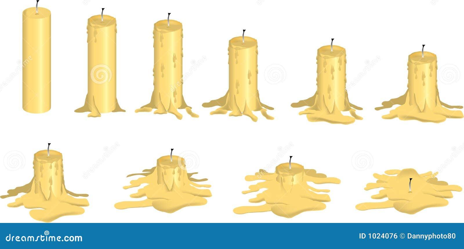 Melting Candle Royalty Free Stock Image - Image: 1024076