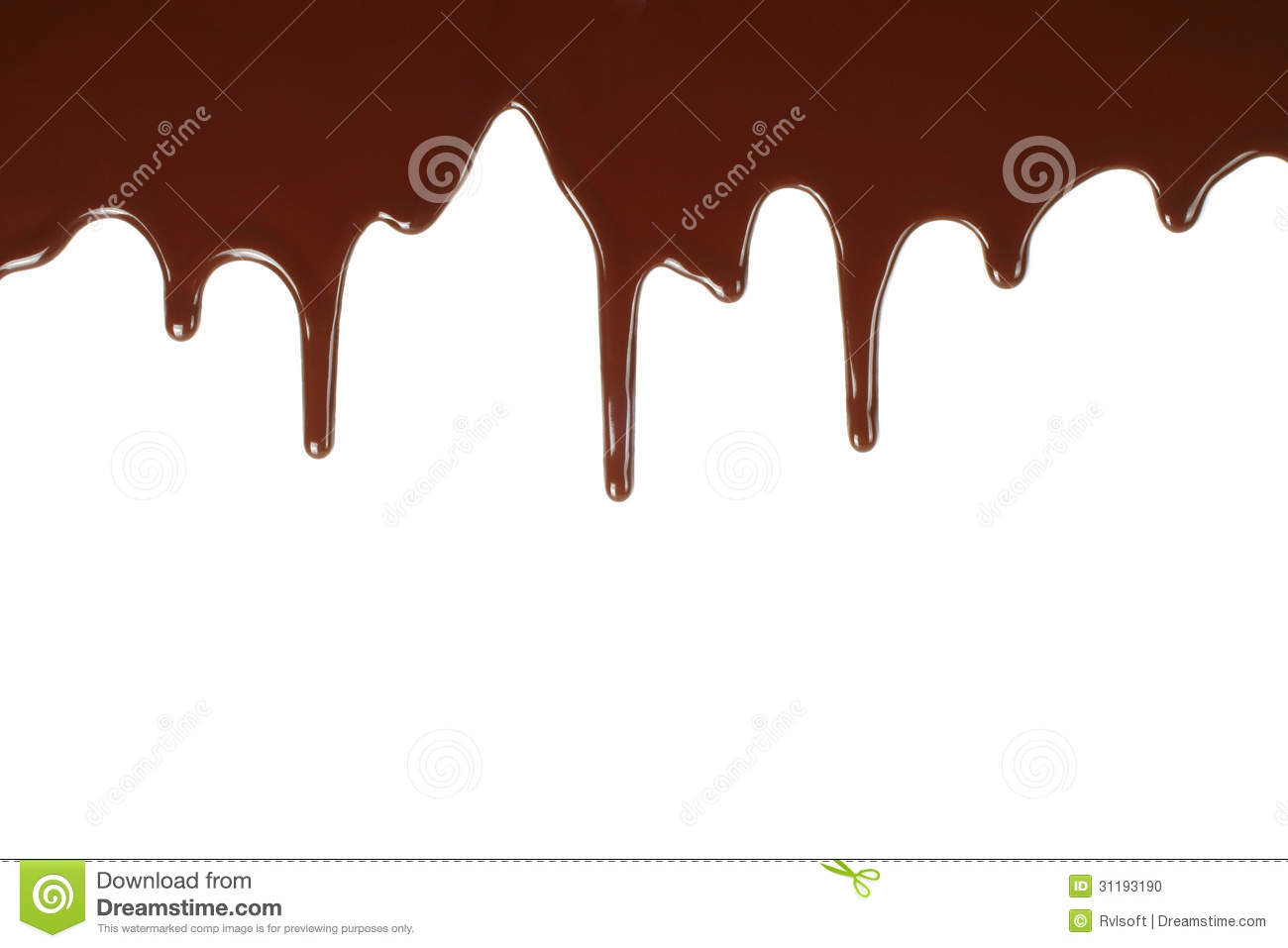 Melting Chocolate Dripping Stock Photo Image Of Background