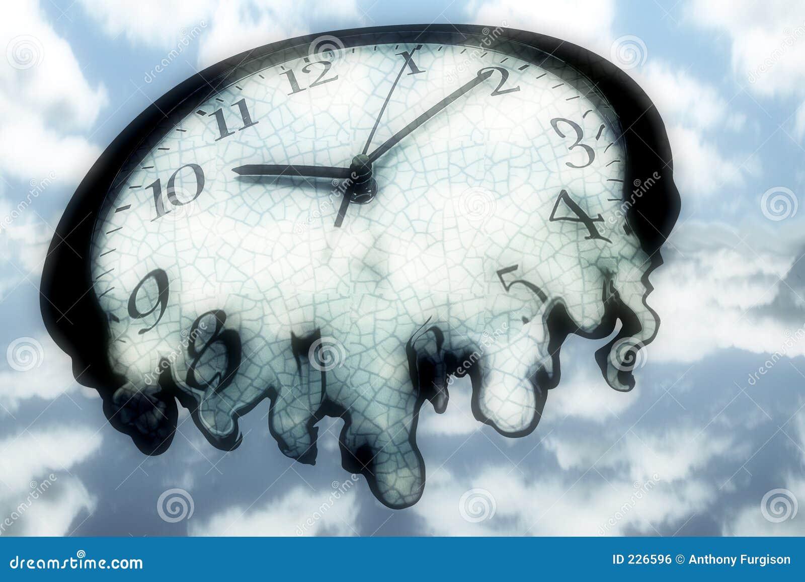 melting clock royalty free stock image