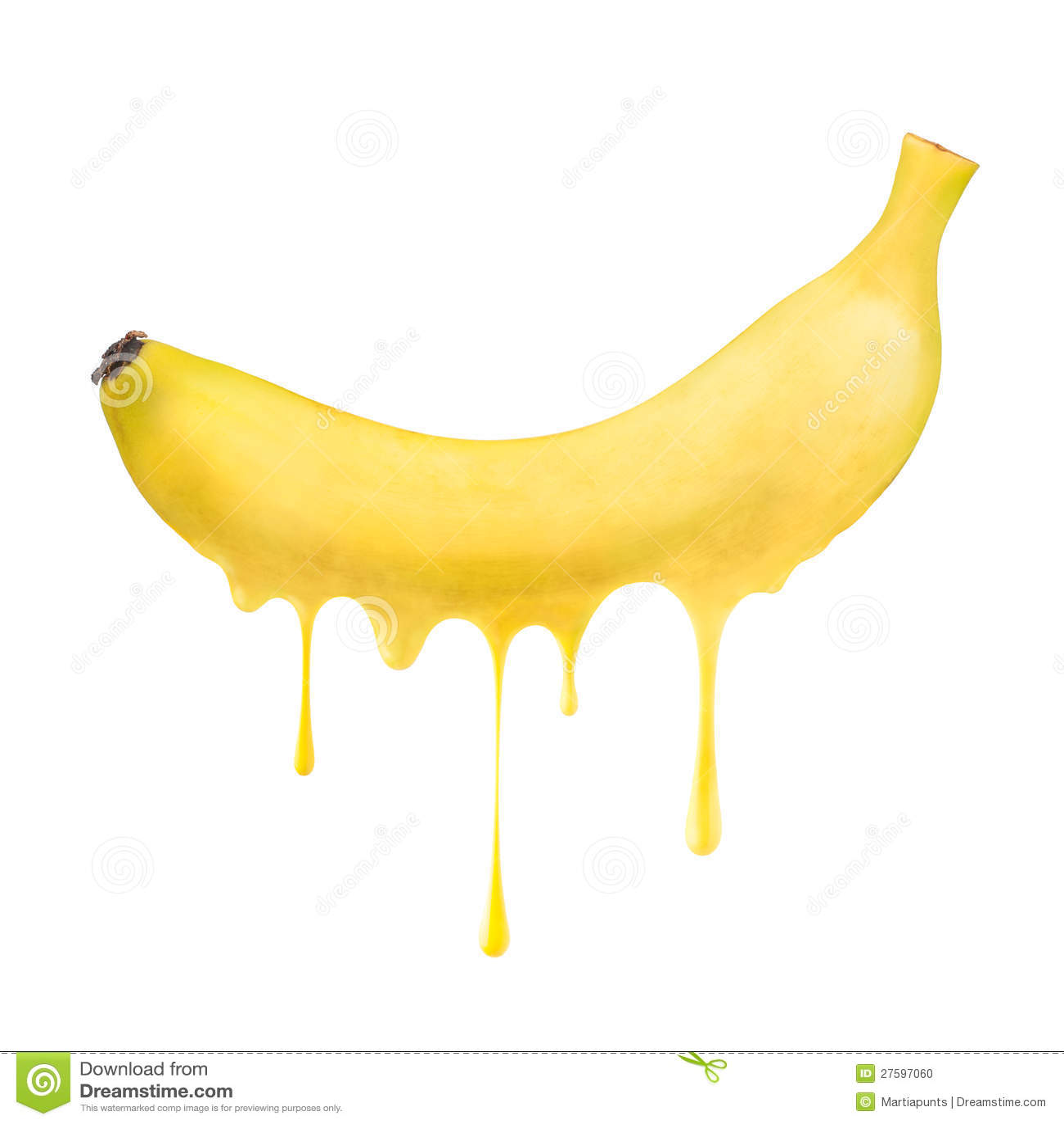 Melting and dripping banana