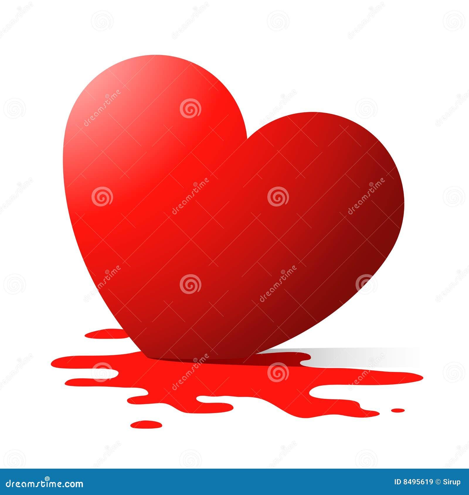 Download Melting heart stock vector. Illustration of liquid, romance - 8495619
