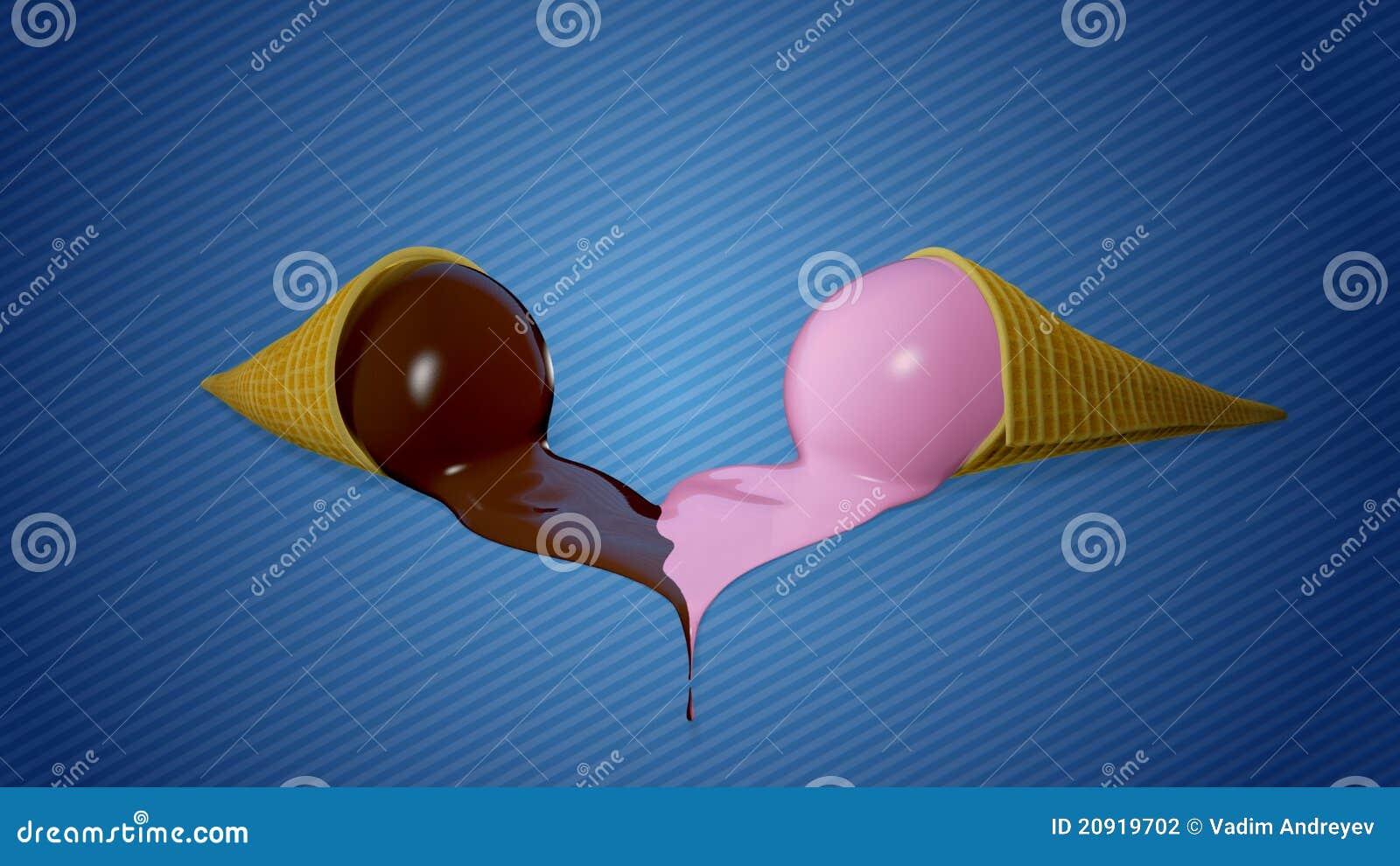 Melting Ice Cream Heart Stock Photography Image 20919702