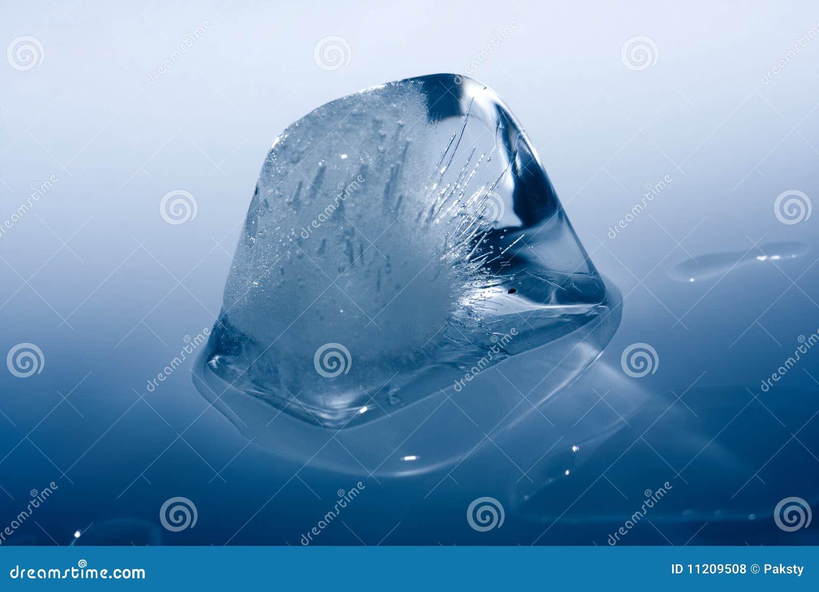 Ice cube melting on my big tits 9