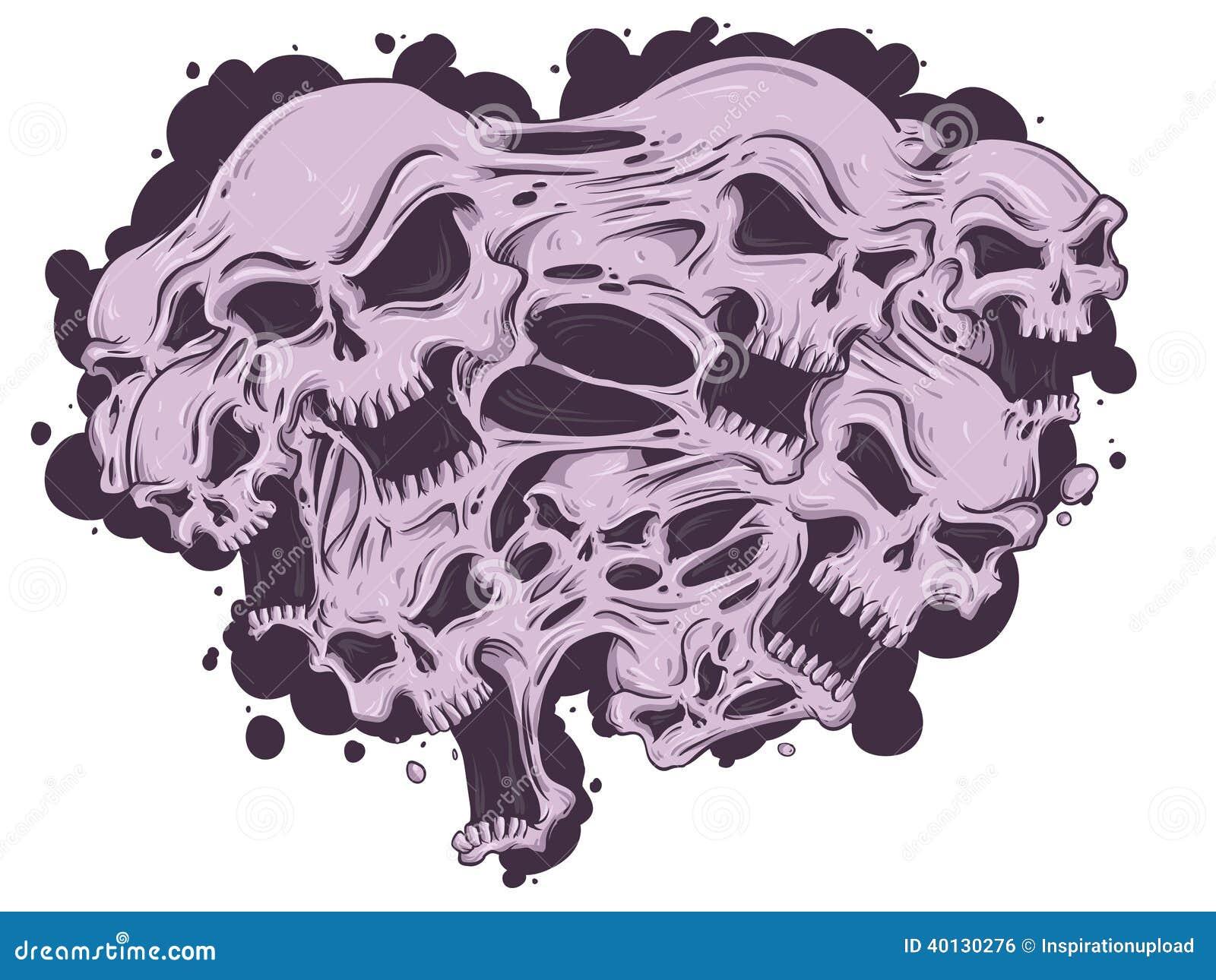 melting skulls stock vector image 40130276 flames clip art free download fire flame clip art free