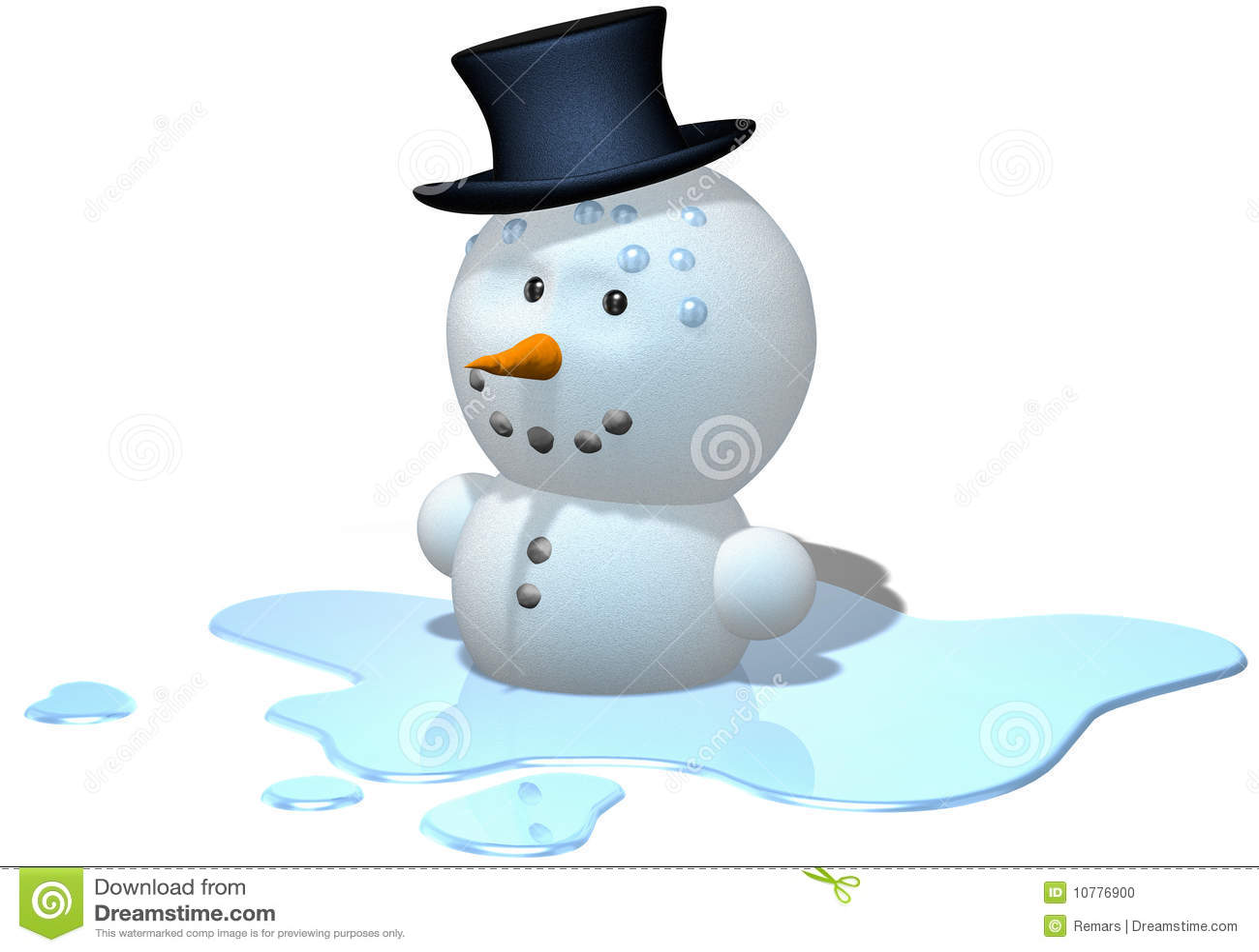 Melting Snowman Stock Photo - Image: 10776900