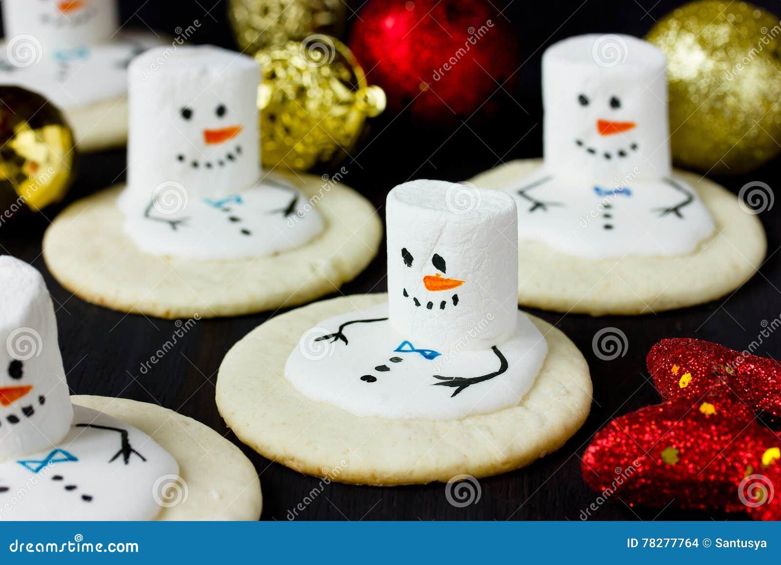 Melting Snowman Christmas Cookies Stock Photo Image Of Christmas