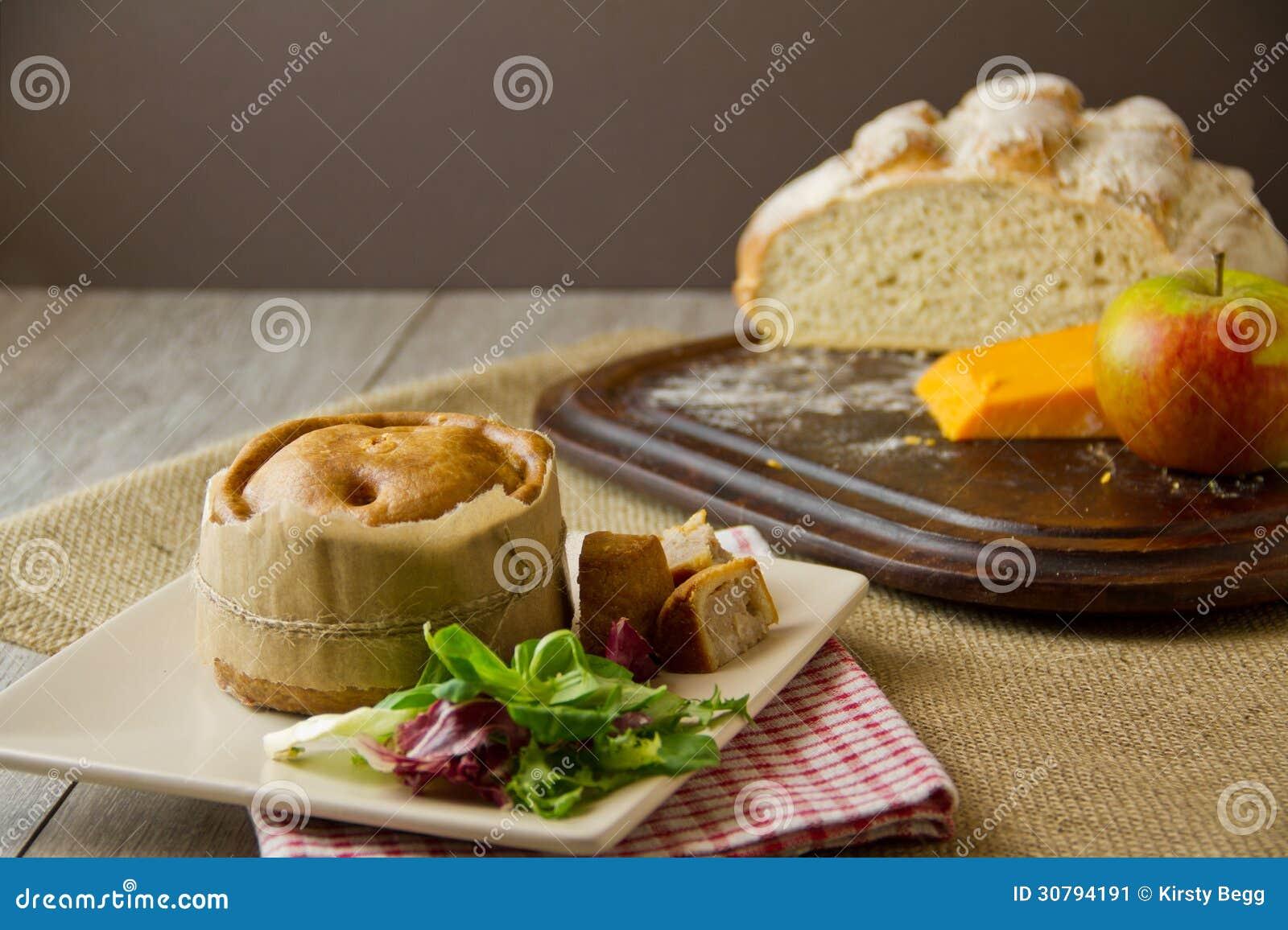 Country Farmhouse Plans Melton Mowbray Pork Pie Ploughman S Lunch Stock Image